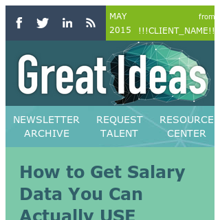 Salary data you can use